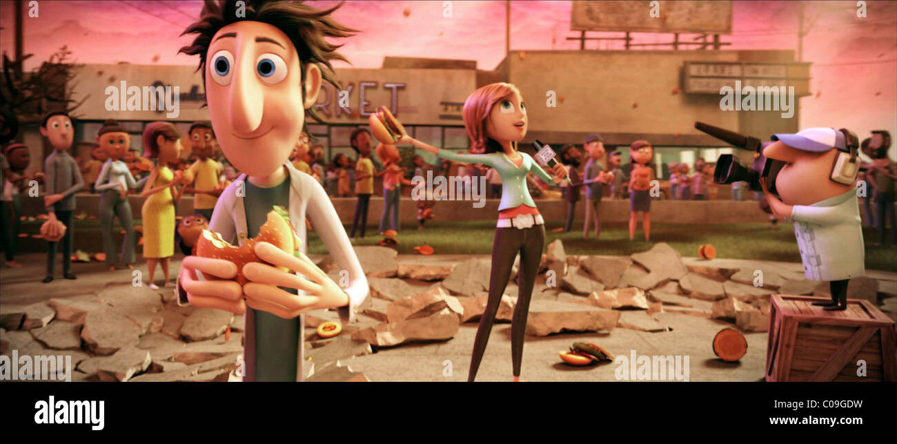 Flint Lockwood Sam Cloudy With A Chance Of Meatballs 2009 Stock Photo Alamy