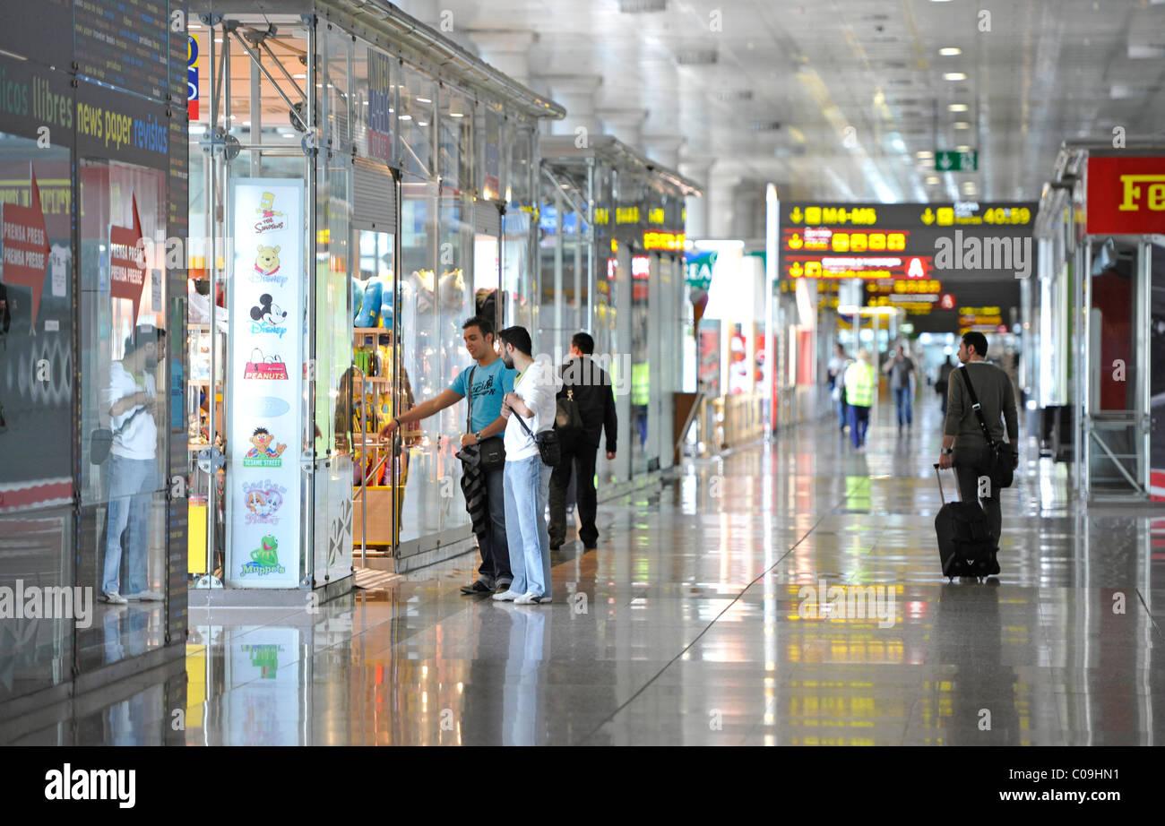 Duty-Free Zone, shops, Terminal 2, Barcelona Airport, Aeropuerto de Barcelona, Spain, Europe - Stock Image