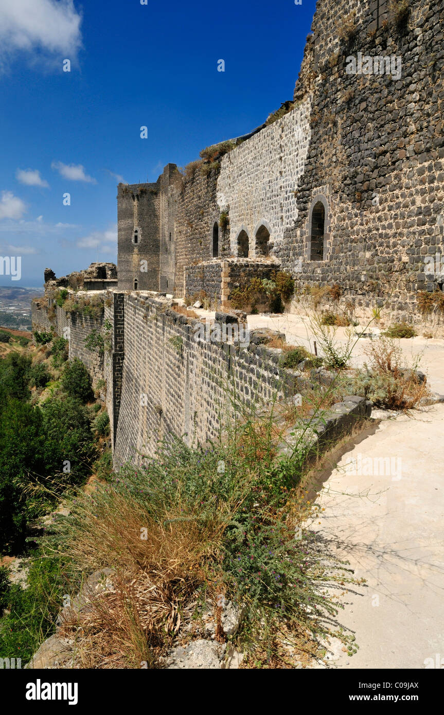 Crusader fortress, castle of Qalaat Marqab, Margat, Syria, Middle East, West Asia - Stock Image