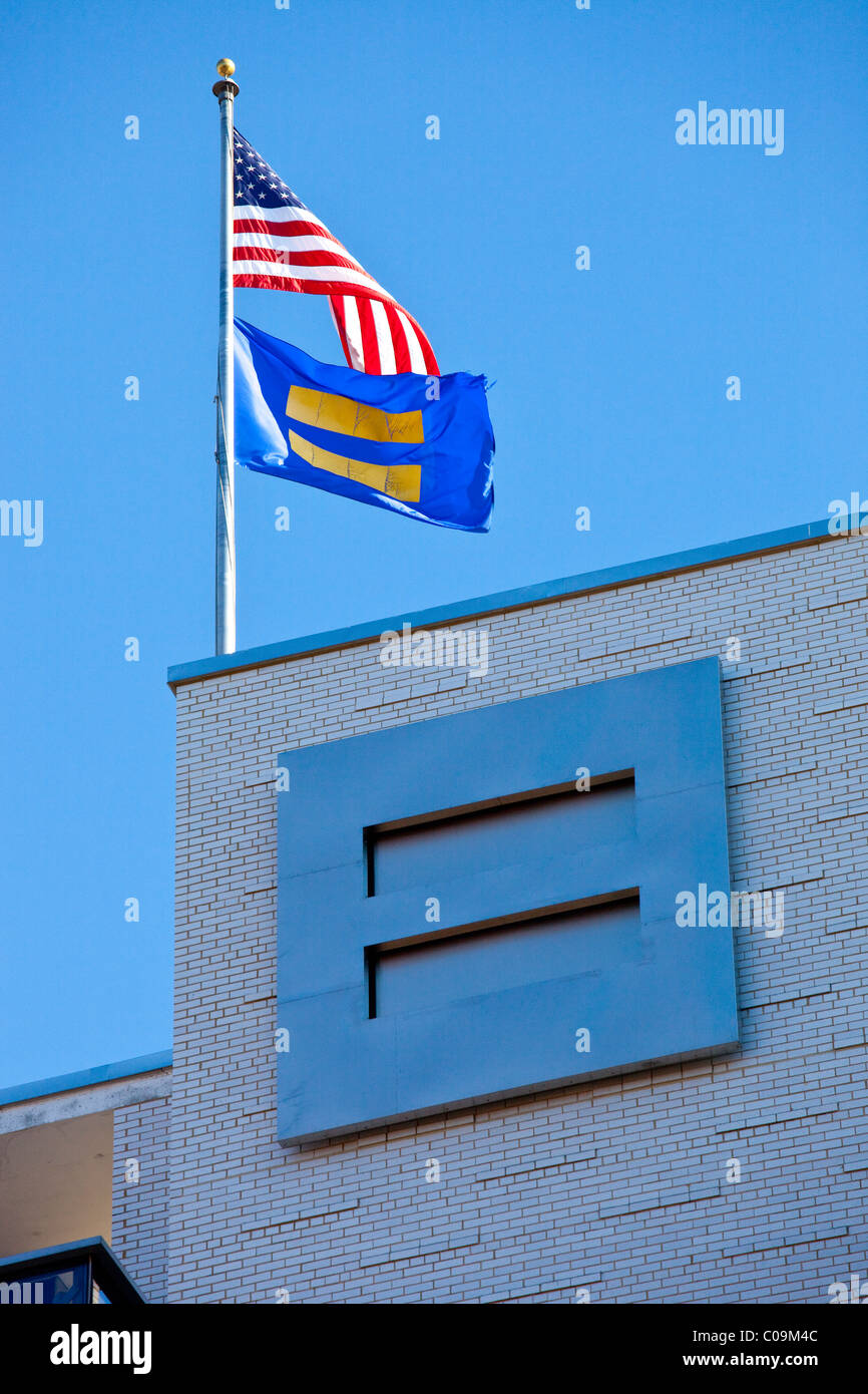 HRC, Human Rights Campaign Headquarters, Washington DC - Stock Image