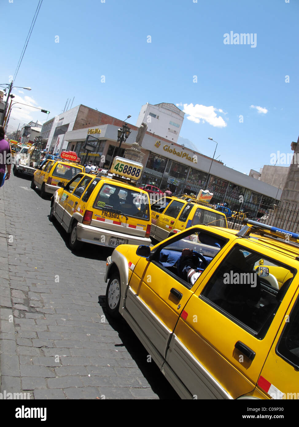 Taxis, Arequipa, Peru - Stock Image