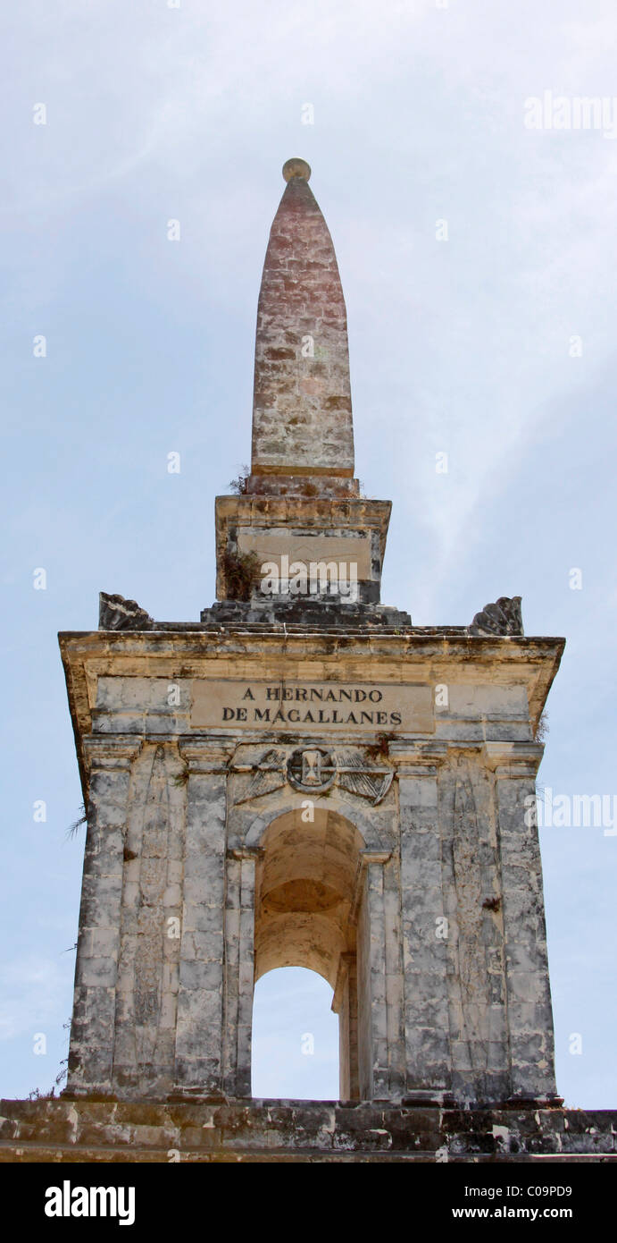 Monument to Ferdinand Magellan, Cebu, Visayas, Philippines, Southeast Asia, Asia - Stock Image