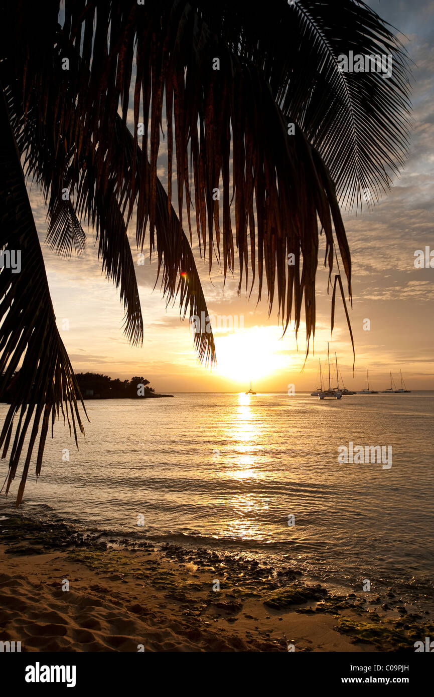 Sunset at Bayahibe, Dominican Republic - Stock Image