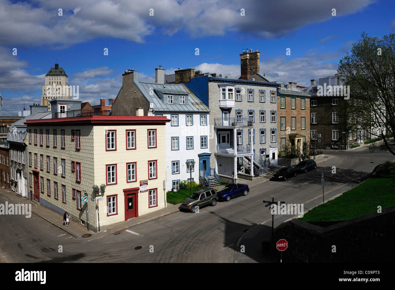 Streets in the historic town centre of Quebec City, Quebec, Canada - Stock Image
