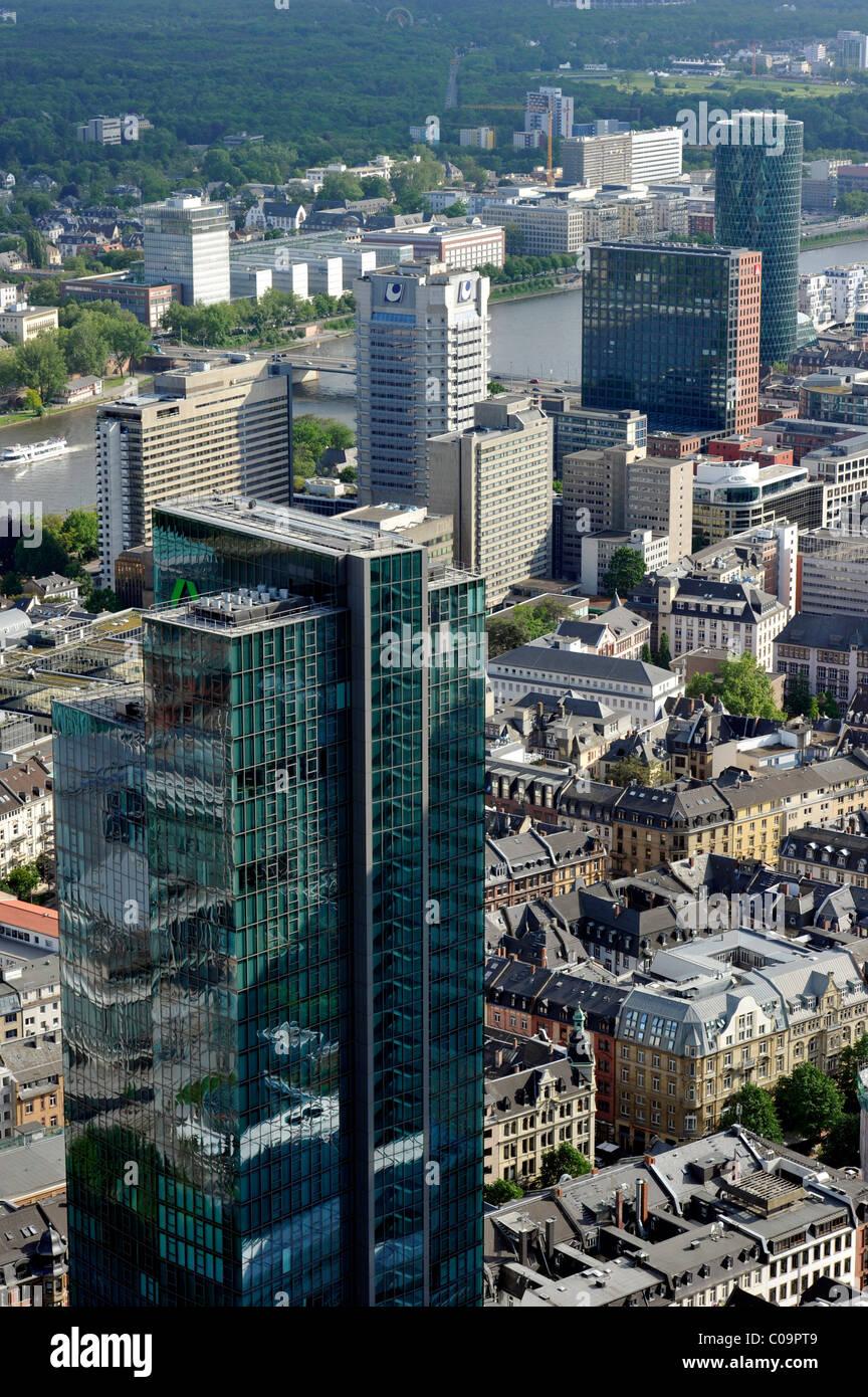 Dresdner Bank skyscraper called Gallileo, Westhafen Tower, Financial District, Frankfurt am Main, Hesse, Germany, Europe Stock Photo