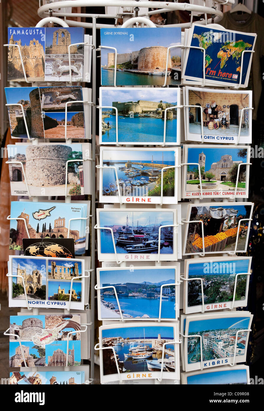 Postcards from North Cyprus, Famagusta, North Cyprus, Turkish, Cyprus, Southern Europe - Stock Image