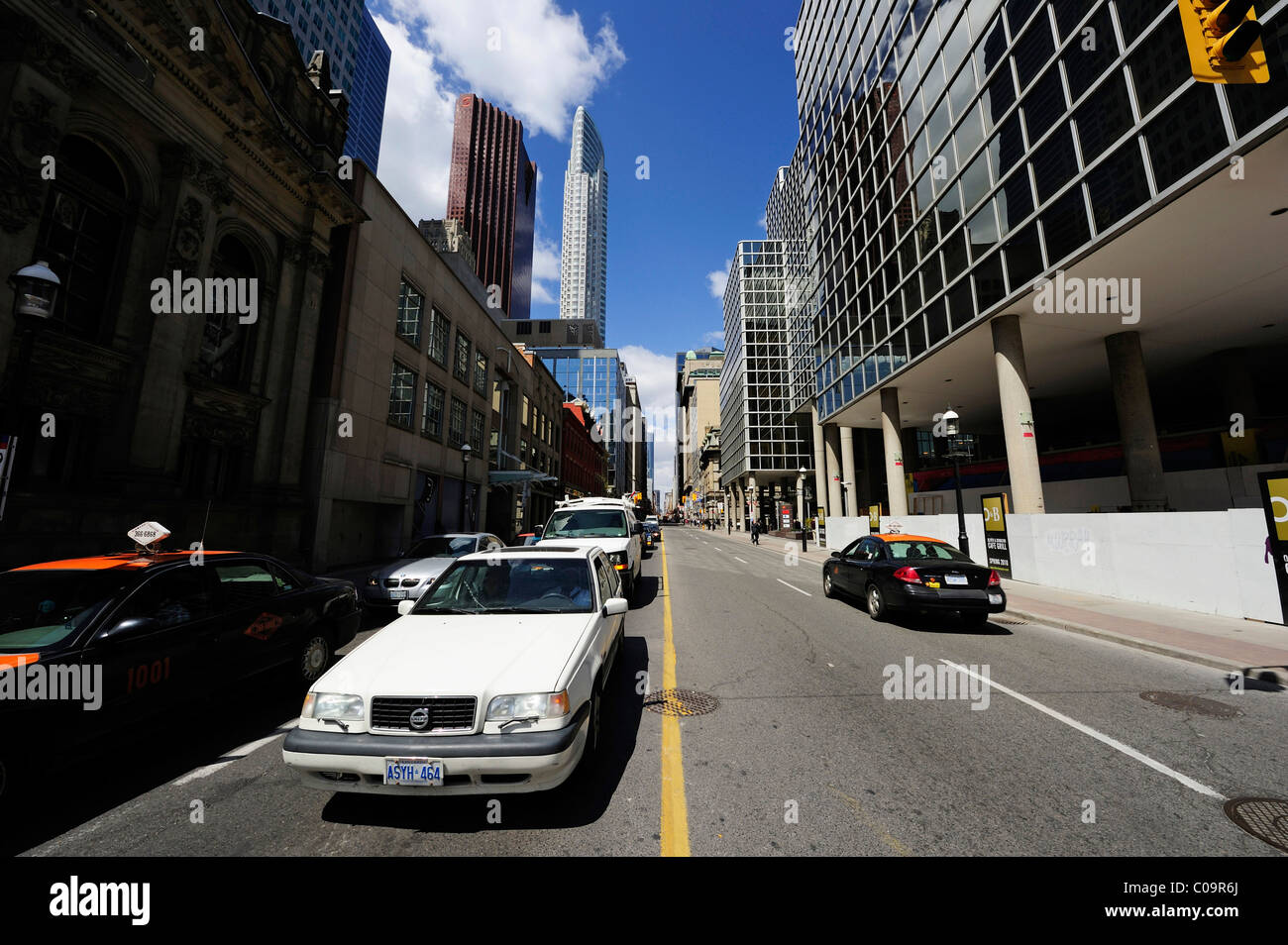 Yonge Street, the busiest street in downtown Toronto, Ontario, Canada - Stock Image