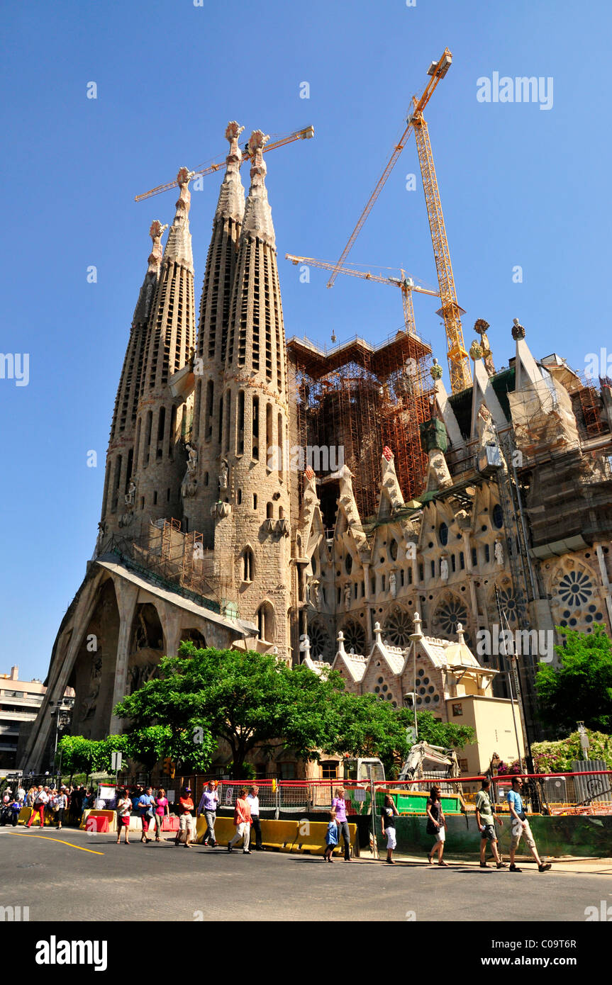 Towers Of Sagrada Familia Designed The Most Famous Spanish Architect Antoni Gaudi In A Modernist Style Barcelona Spain