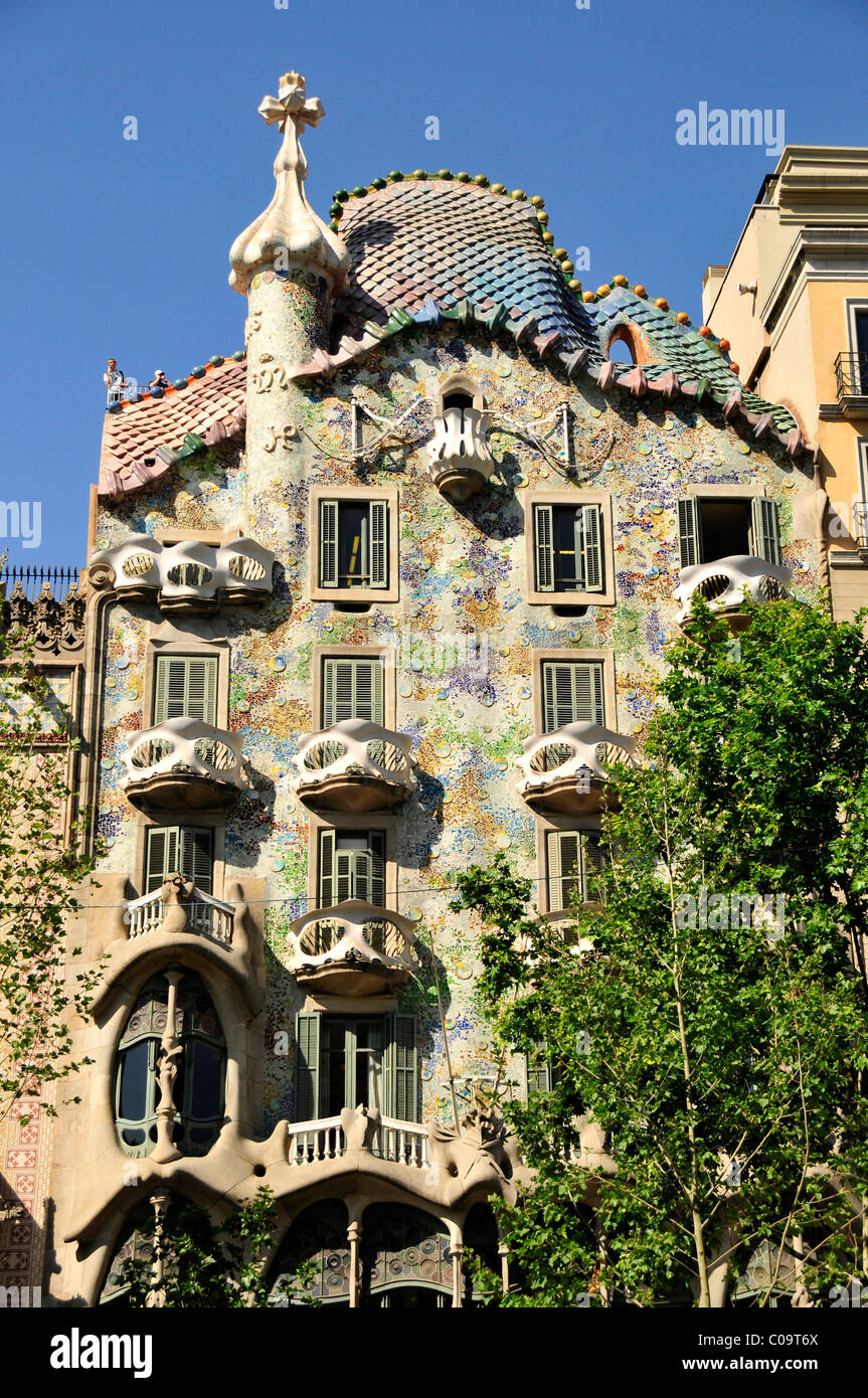 Facade Of Casa Batllo Designed The Most Famous Spanish Architect Antoni Gaudi In A Modernist Style Barcelona Spain