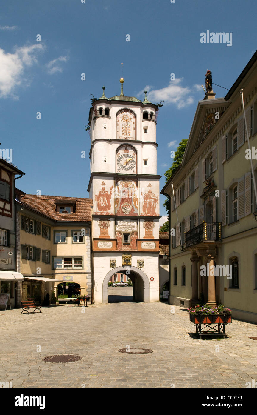 Frauentor gate, now also nown as Ravensburger Tor gate, first mentioned in 1472, received its present form in 1608 - Stock Image