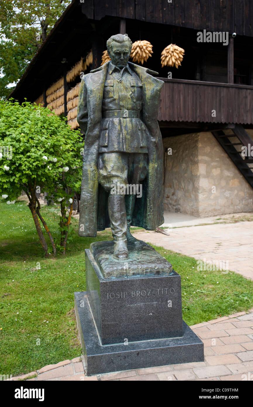 Tito statue in the museum, Staro Selo, Kumrovec, Croatia, Europe - Stock Image