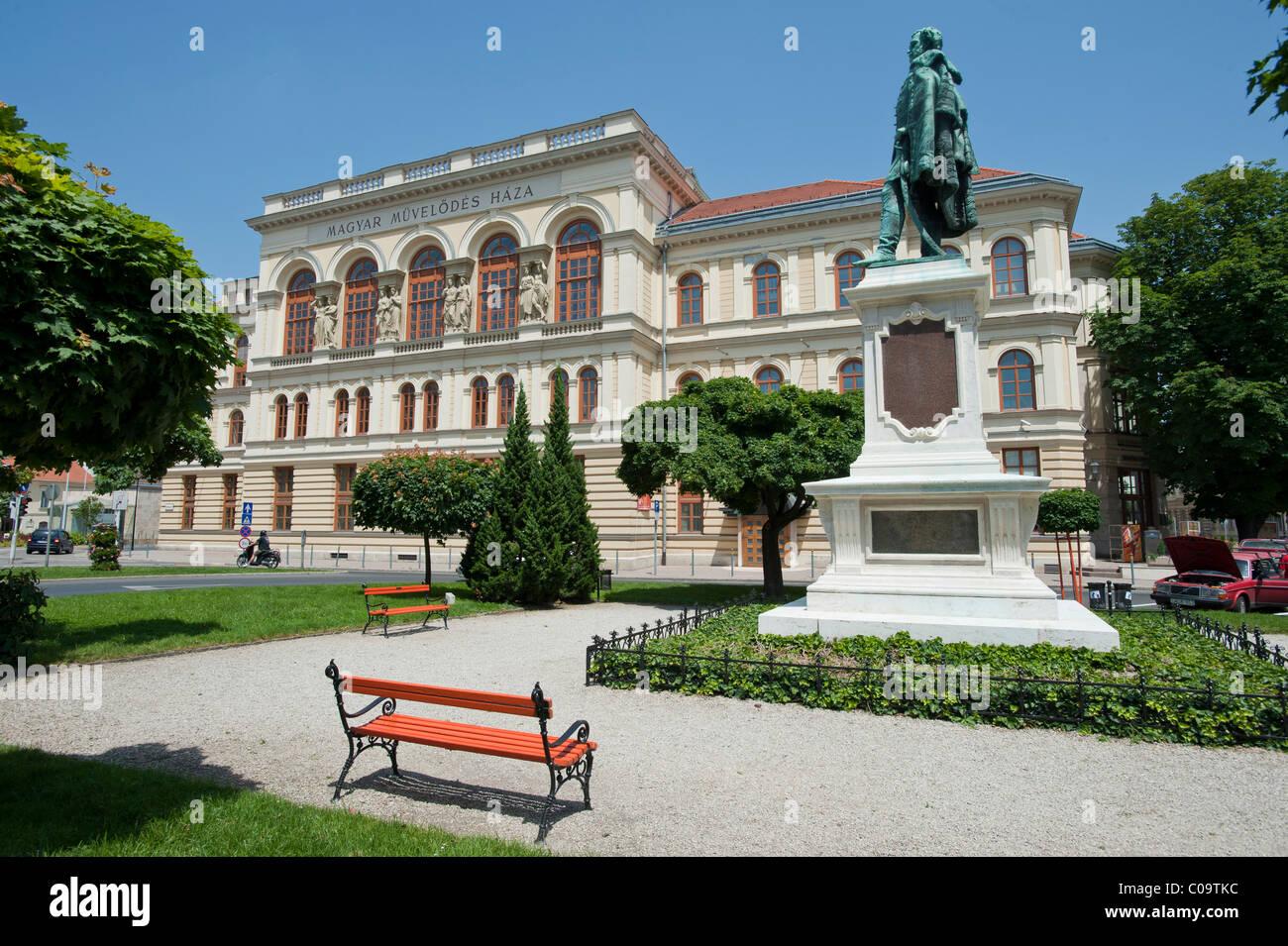 Magyar Mueveloedes Haza, concert hall, Liszt House, Sopron, Hungary, Europe - Stock Image