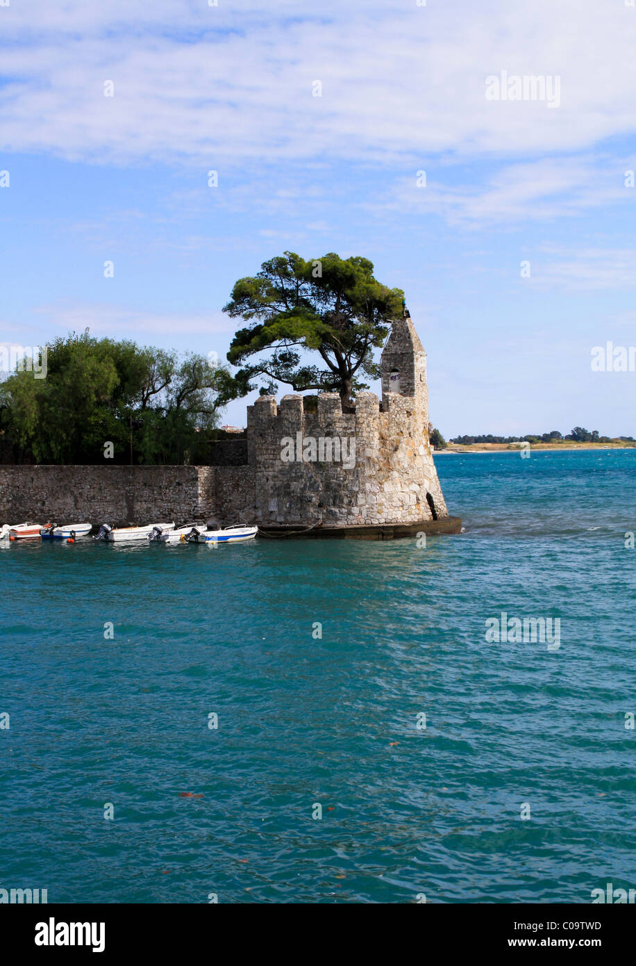 Venetian fortifications at the port of Nafpaktos, Aetolia-Acarnania, West Greece - Stock Image
