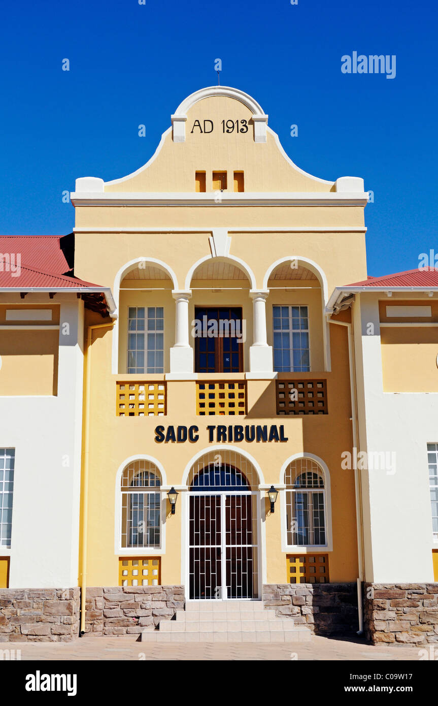 Windhoek Gymnasium from the German colonial period, 1975 venue for the 'Turnhalle Constitutional Conference' - Stock Image