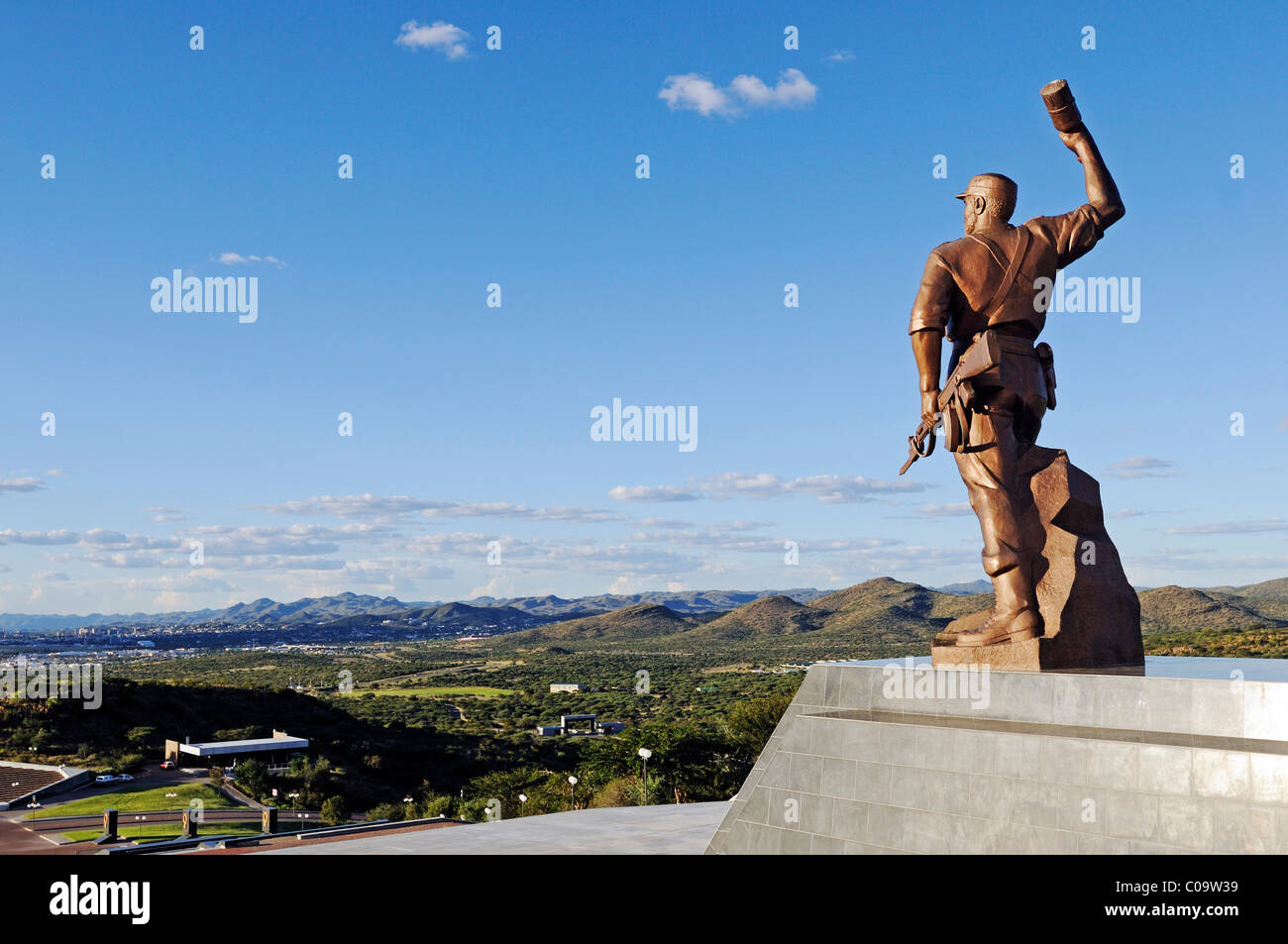 Heroes Acre, heroes' field, memorial to the heroes of the independence wars, with a statue of the Unknown Soldier, - Stock Image