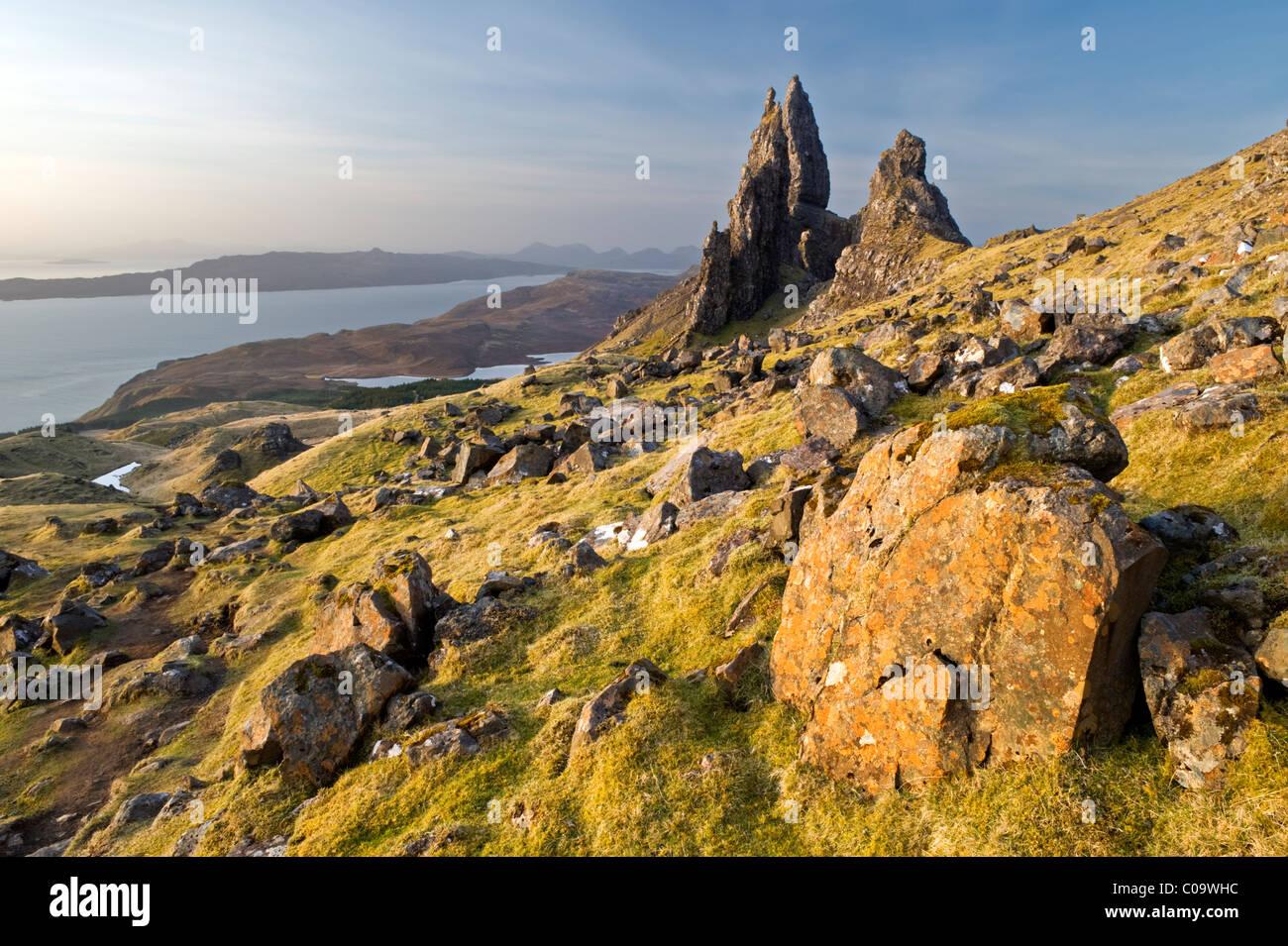 The Old Man of Storr, Trotternish Peninsular, Isle of Skye, Inner Hebrides, Scotland, UK - Stock Image