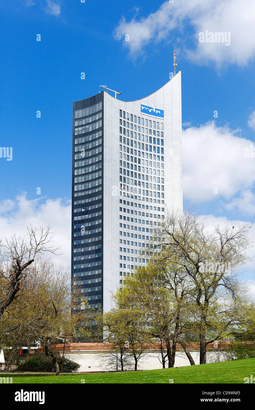 City-Hochhaus, high-rise building, Leipzig, Saxony, Germany, Europe - Stock Image
