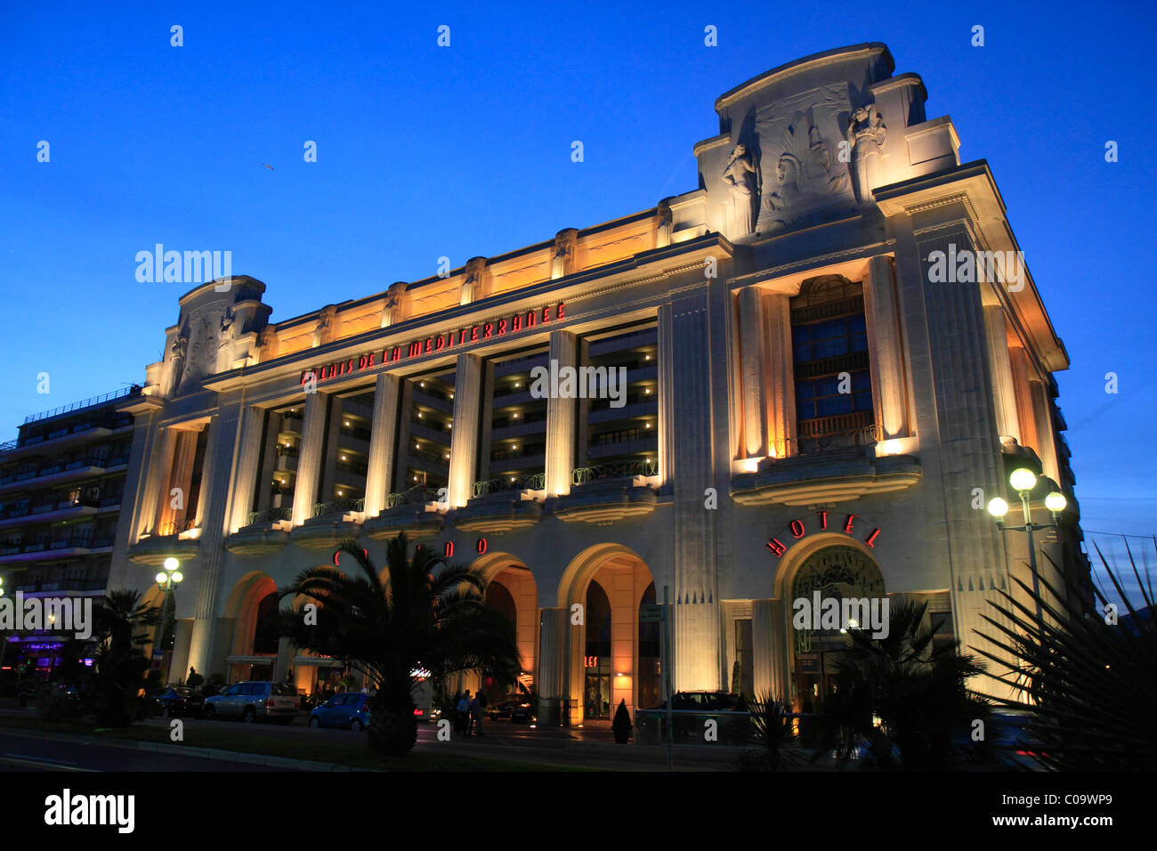 Hotel and Casino Palais de la Mediterranée, Promenade des Anglais, Nice, Département Alpes Maritimes, - Stock Image