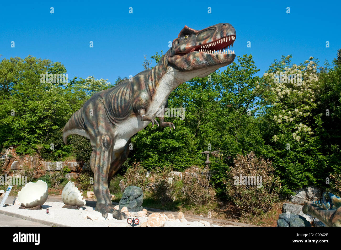 Funtana dinosaur park, Istria, Croatia, Europe - Stock Image