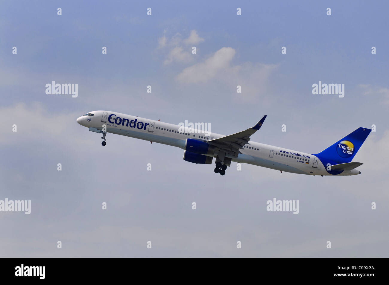 Condor passenger aircraft, climb, Boeing 757-300 Stock Photo