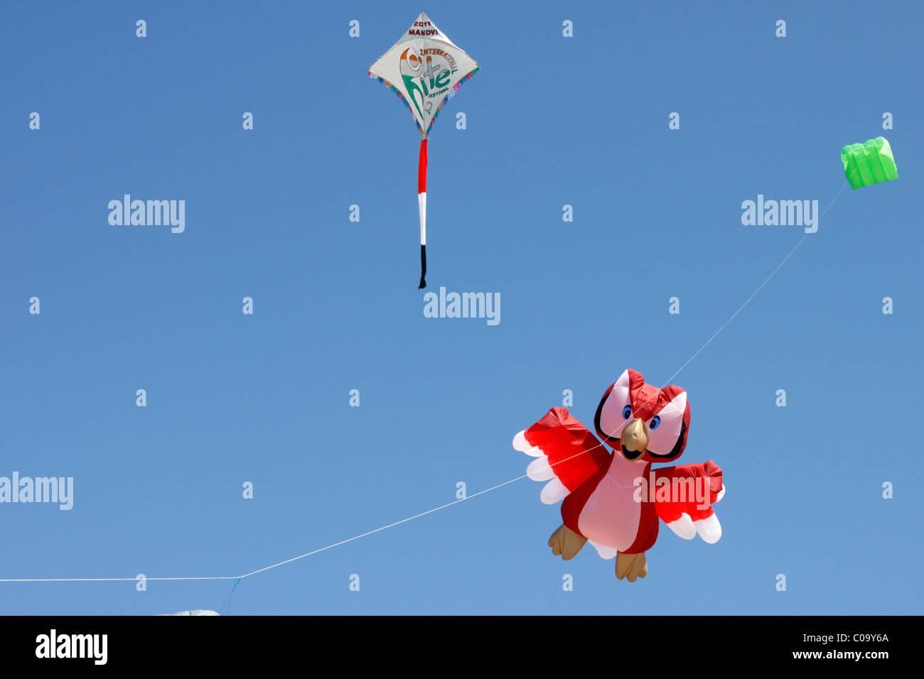Kite festival, Gujarat, india - Stock Image