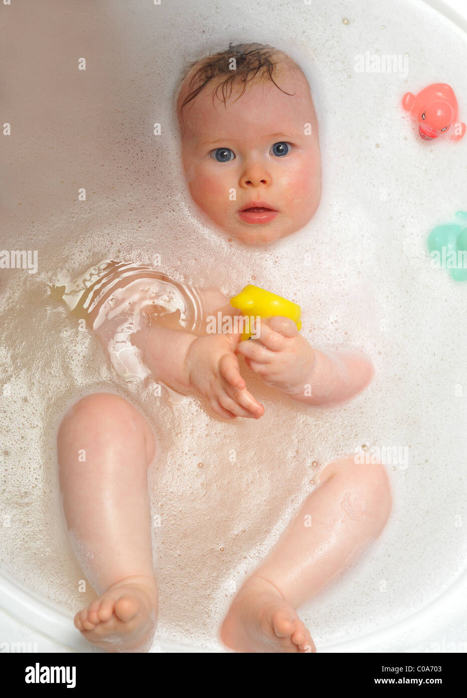cute 6 month old baby bath bathtime toy ducks play infant clean ...