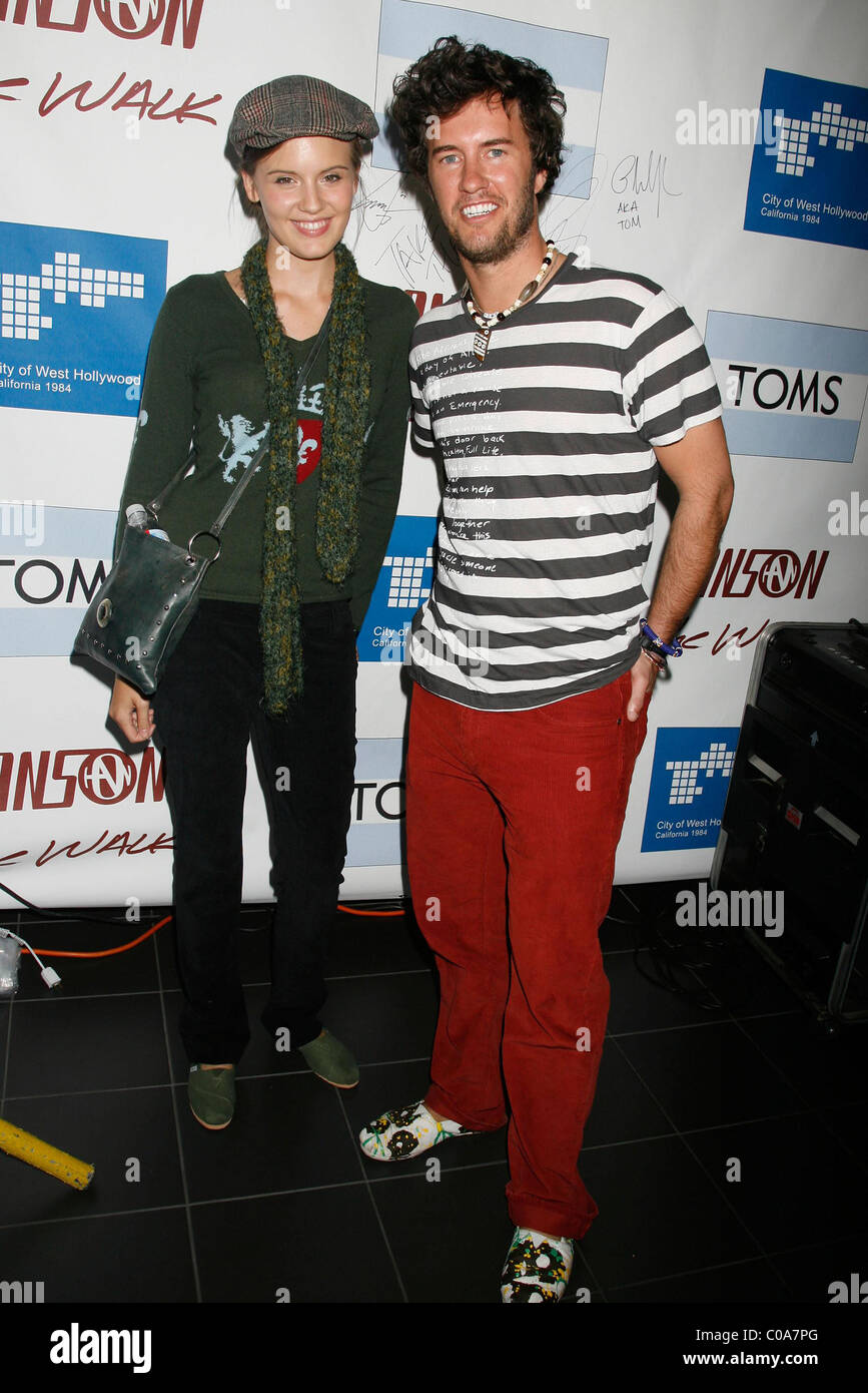 84cd8f38f3a Maggie Grace With Blake Mycoskie of Toms Shoes The Hanson Brothers Team Up  With Toms Shoes