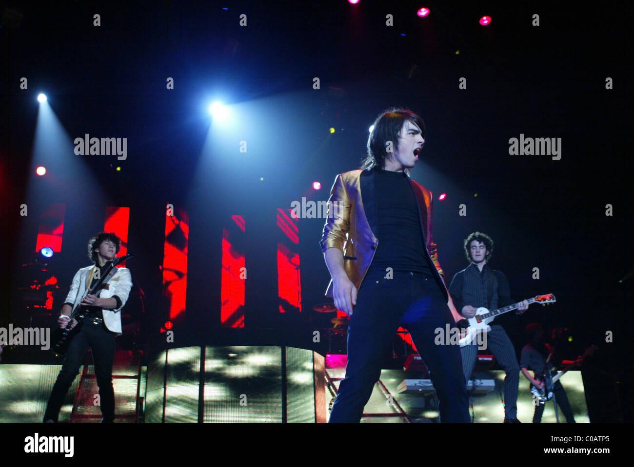 The Jonas Brothers perform at the Patriot Center Washington