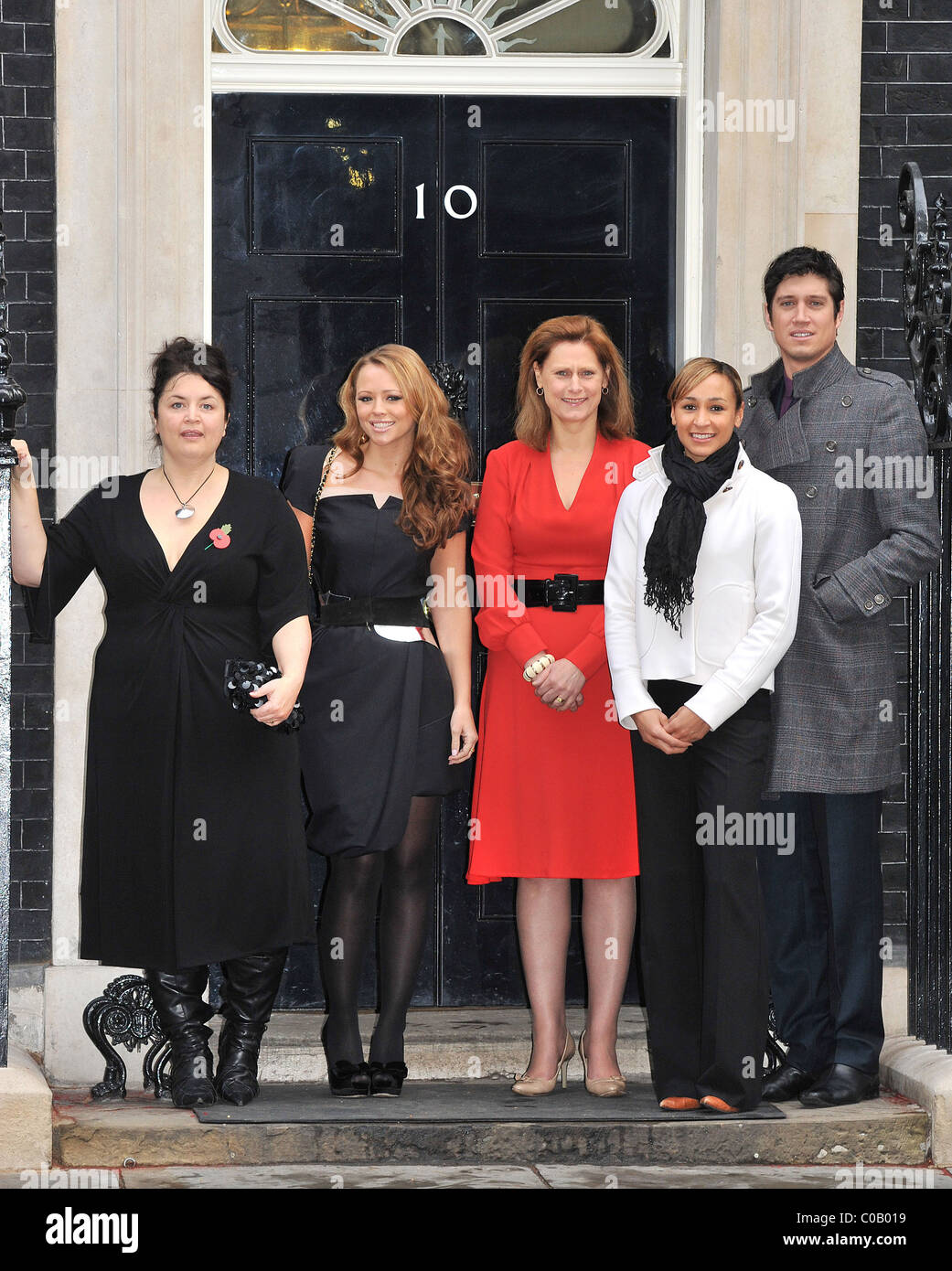 Ruth Jones, Kimberly Walsh, Sarah Brown, Jessica Ennis, Vernon Kay