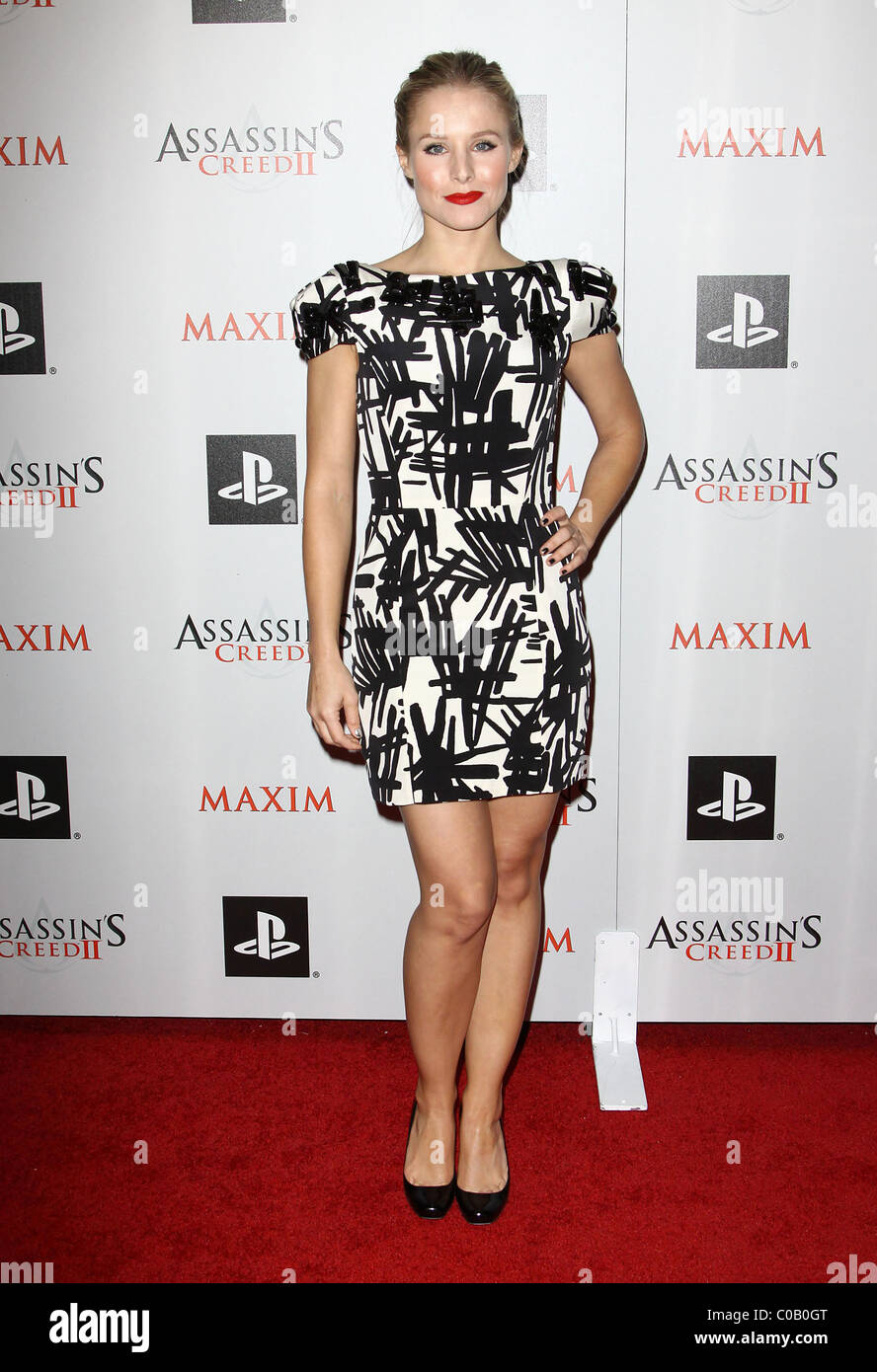 kristen bell maxim and ubisoft celebrate the launch of