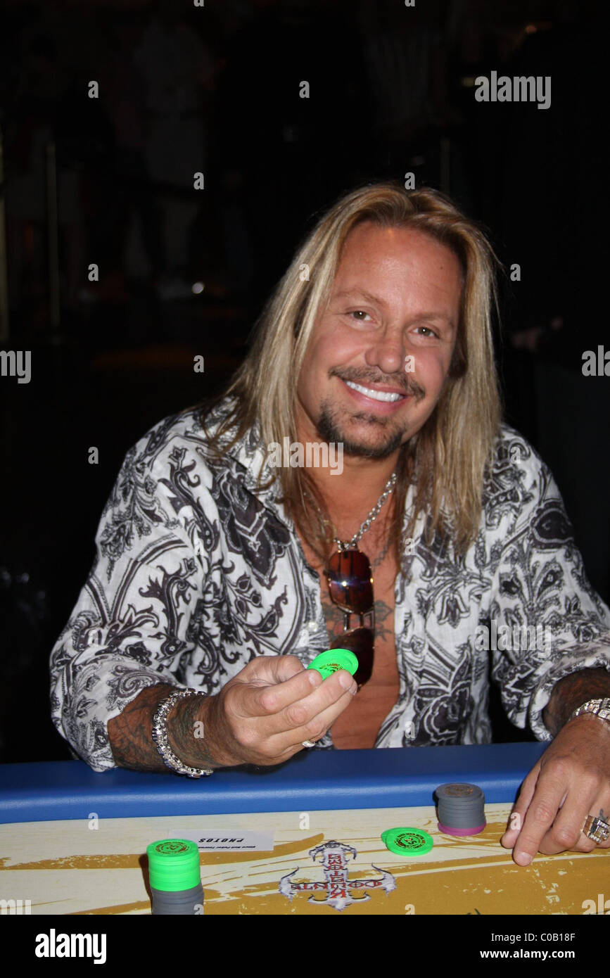 Vince Neil Charity Poker Tournament at The Joint Hard Rock