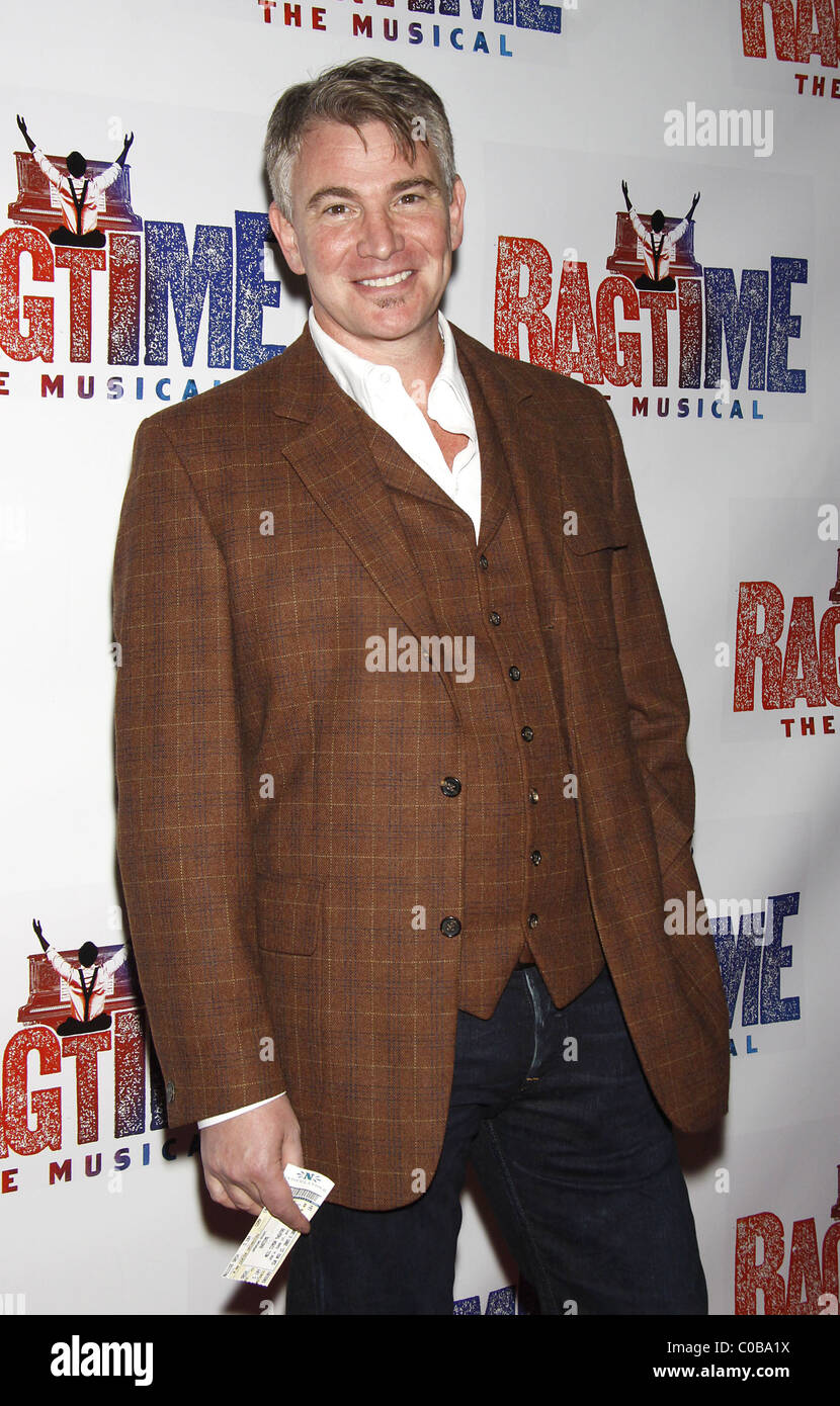 Douglas Sills Opening night of the Broadway musical 'Ragtime' at the Neil Simon Theatre - Arrivals New York - Stock Image