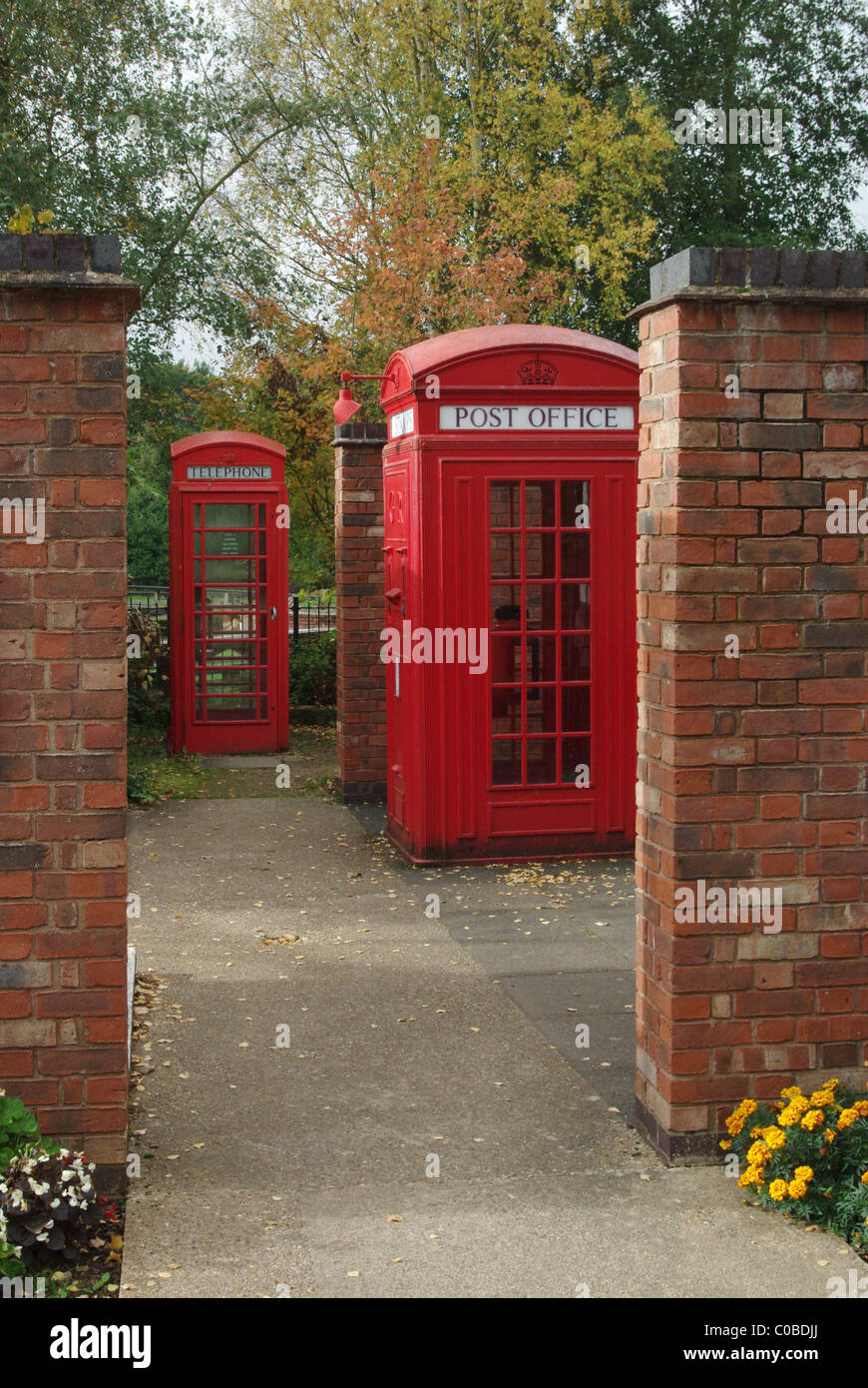 Part of a collection of vintage phone boxes at Avoncroft Museum of Historic Buildings, Bromsgrove, UK - Stock Image