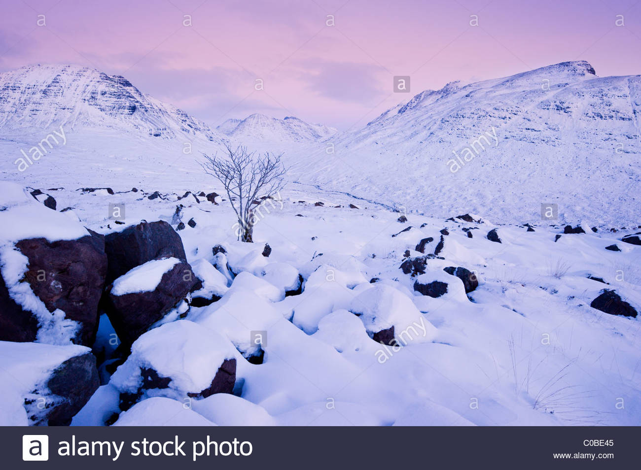 Torridon hills, Highlands of Scotland. - Stock Image