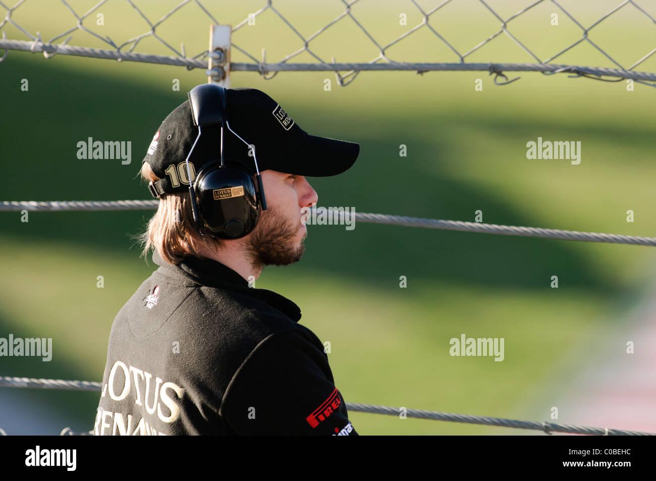 german Formula One driver Nick Heidfeld, Renault, February 2011 - Stock Image