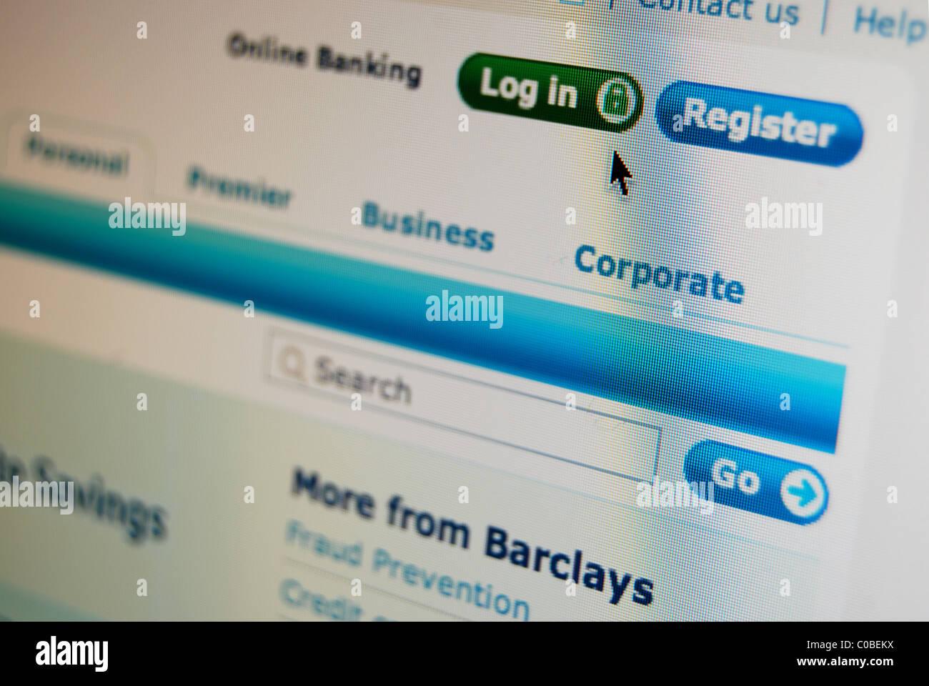 Barclays bank website internet stock photos barclays bank website a photo illustration of the barclays bank website stock image reheart Images