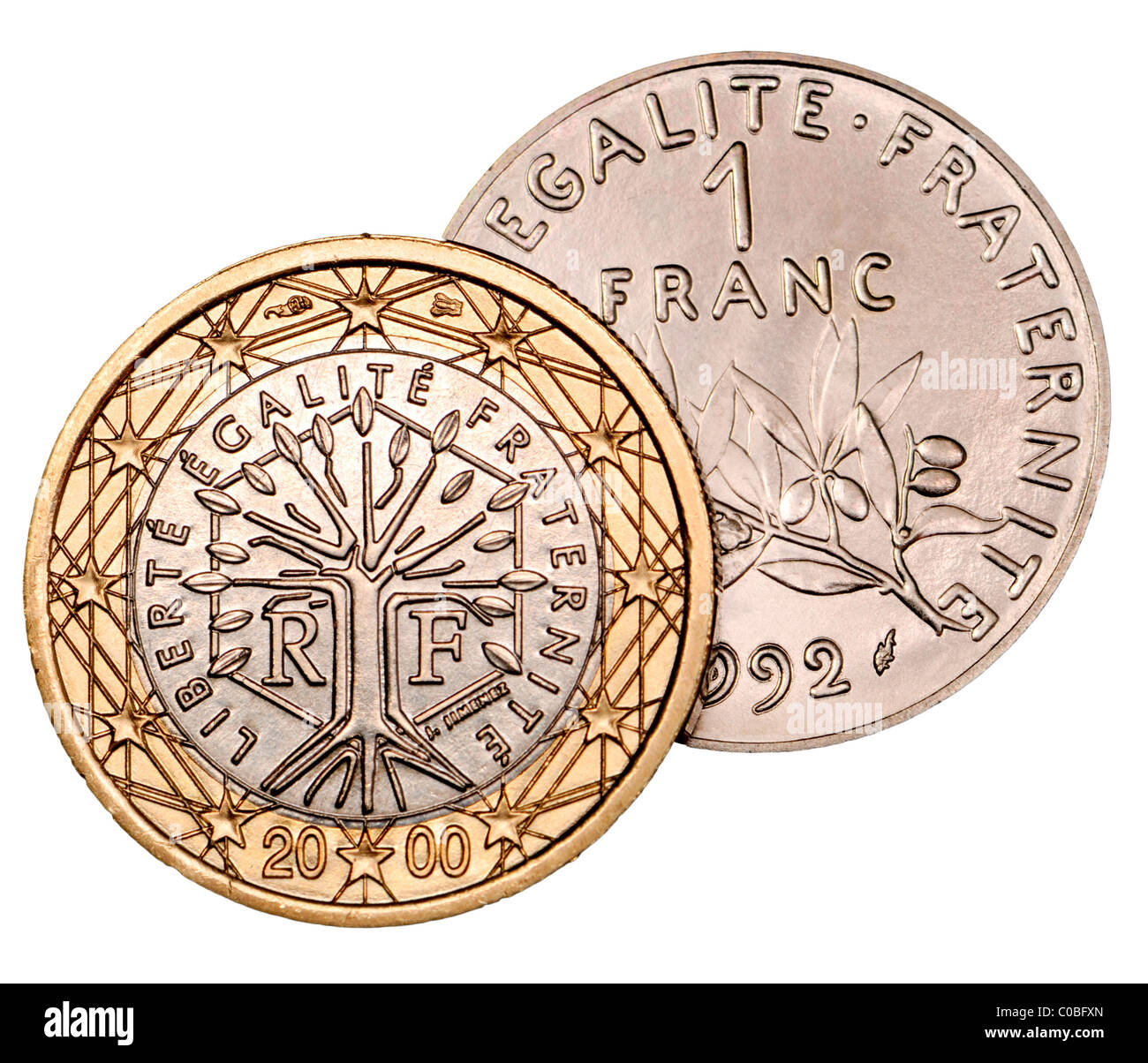 Euro Coin France Cut Out Stock Images Pictures Alamy