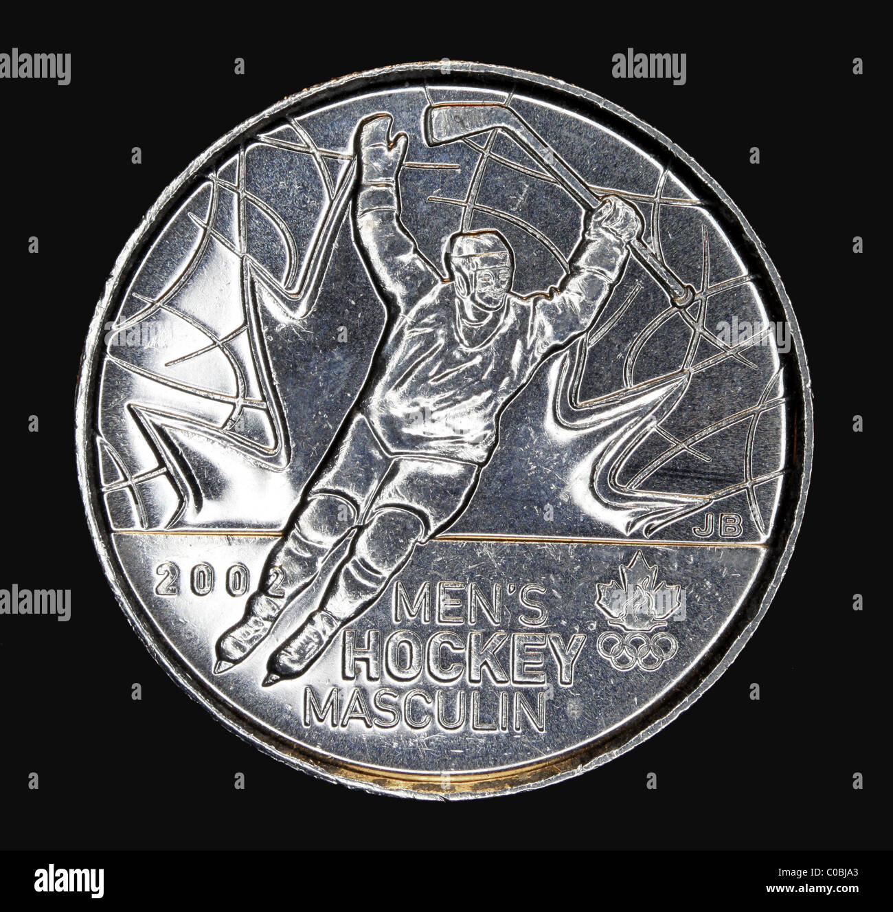 Canadian coin for Vancouver Winter Olympic Games - Stock Image