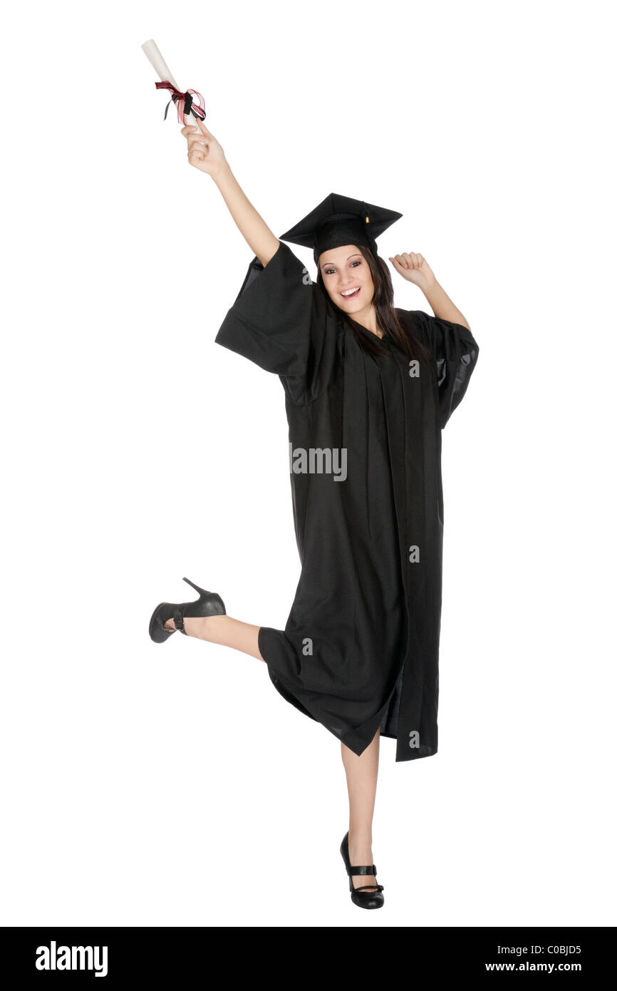 Cute Girl In Graduation Gown Stock Photos & Cute Girl In Graduation ...