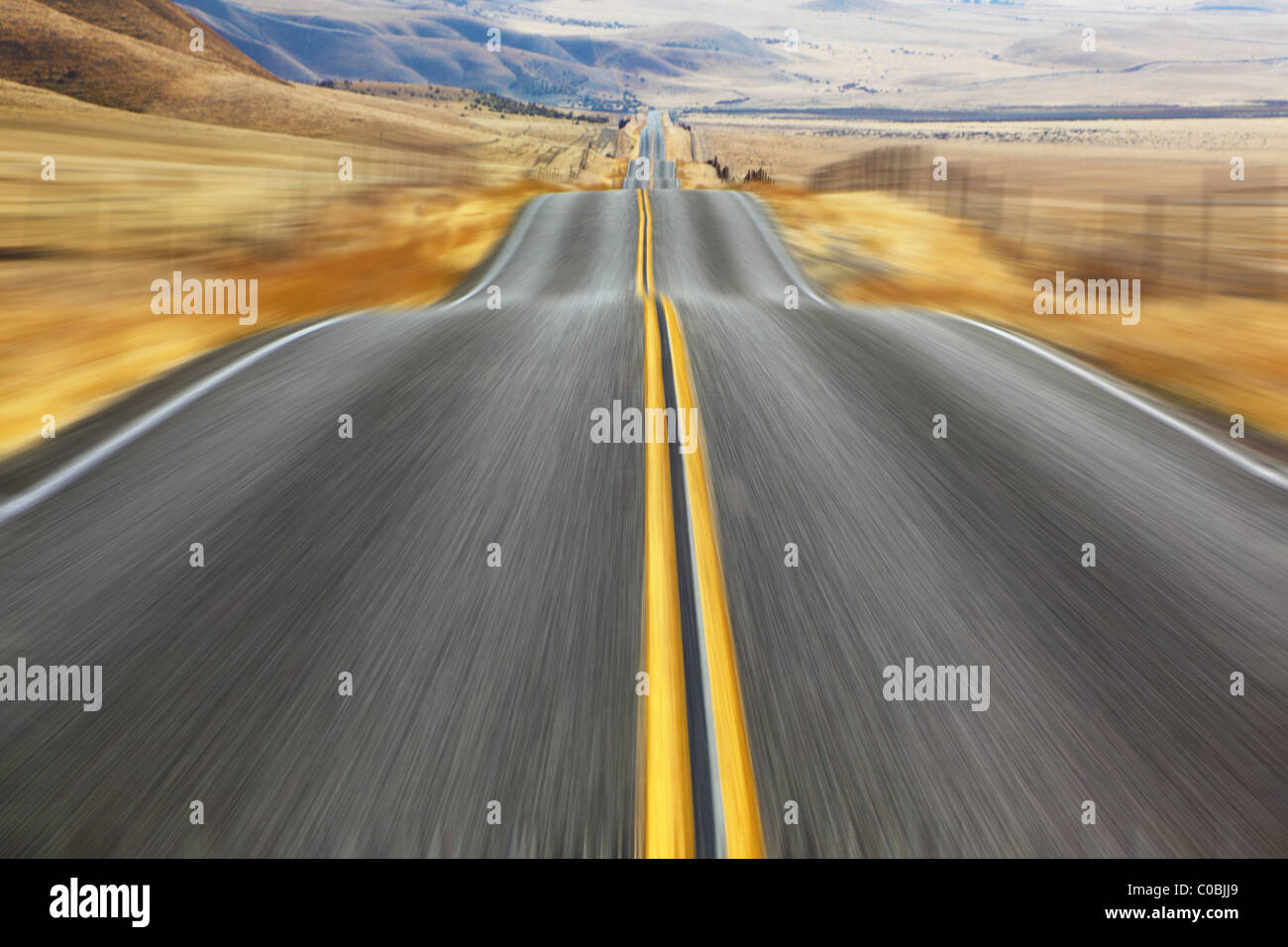 A Mirage on high speed. - Stock Image