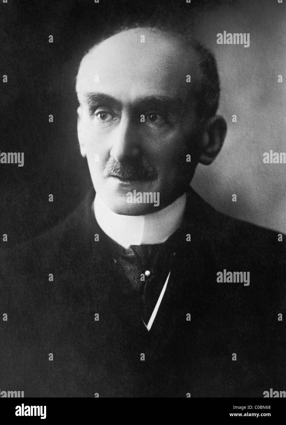 Portrait photo circa 1920s of French philosopher Henri Bergson (1859 - 1941) - winner of the Nobel Prize in Literature - Stock Image