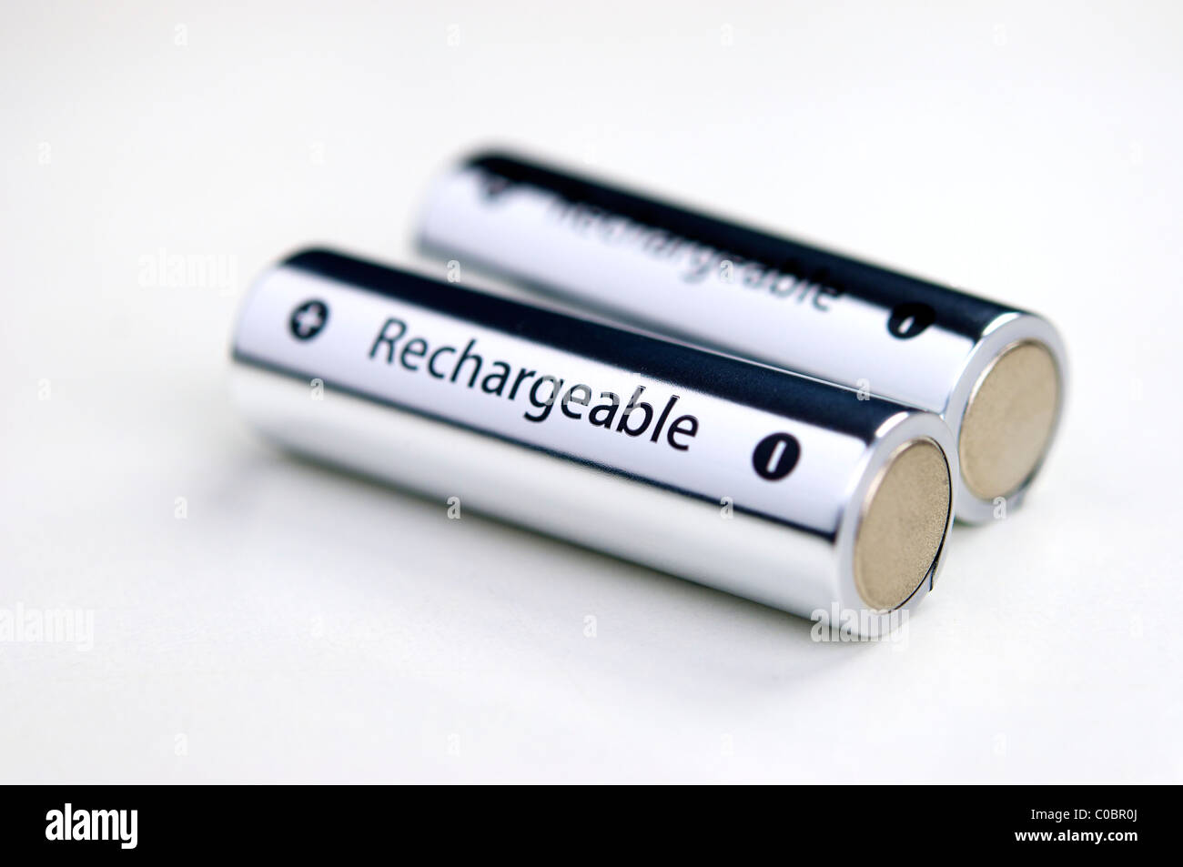 Two rechargeable batteries. - Stock Image