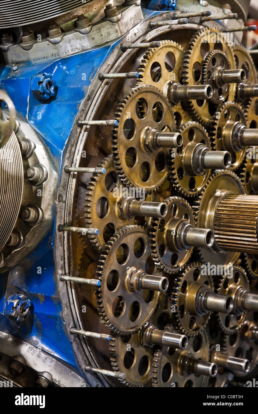 Planetary Gearbox On A Large Radial Piston Aircraft Engine