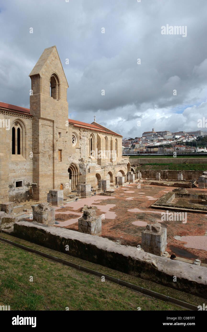 Santa Clara-a-Velha monastery in Coimbra, Portugal, Europe - Stock Image