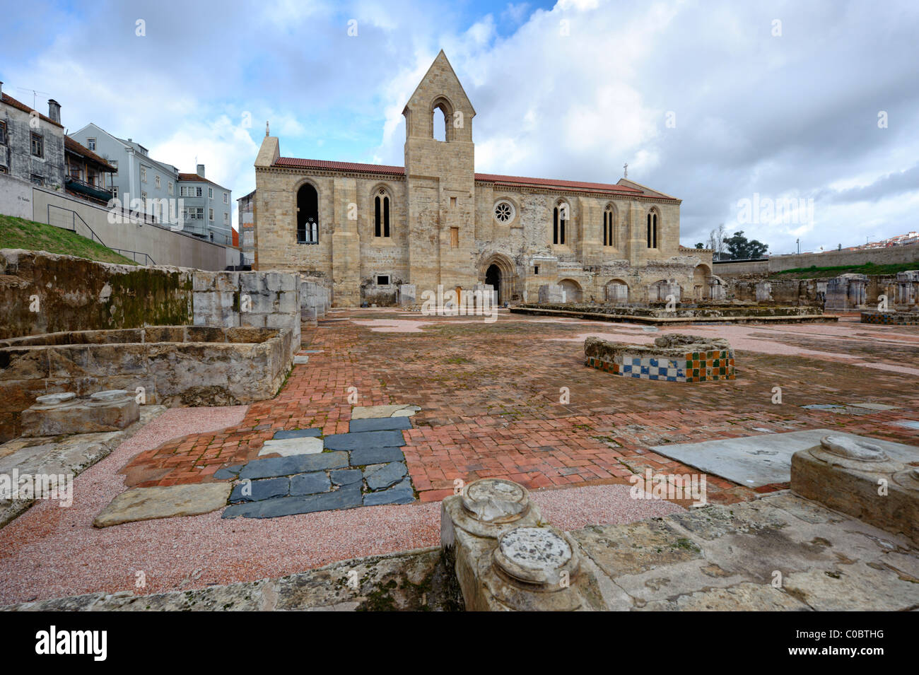 Santa Clara-a-Velha monastery in Coimbra, Portugal, Europe Stock Photo
