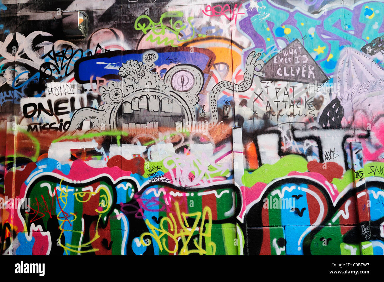A Graffiti Artist Sprays A New Piece Part Of Southbank Centre Known As The Under
