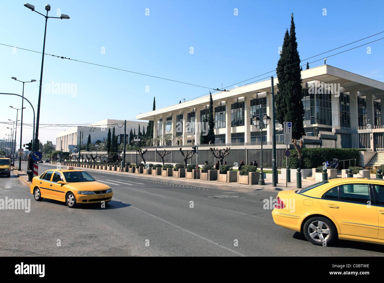 eu greece athens kifisias avenue the american emby stock image