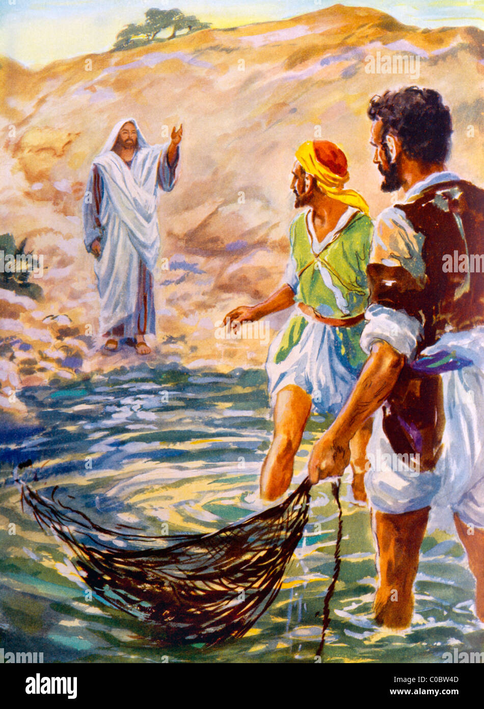 Jesus Calls Andrew Peter To Leave Their Nets Painting By Henry Stock Photo Alamy