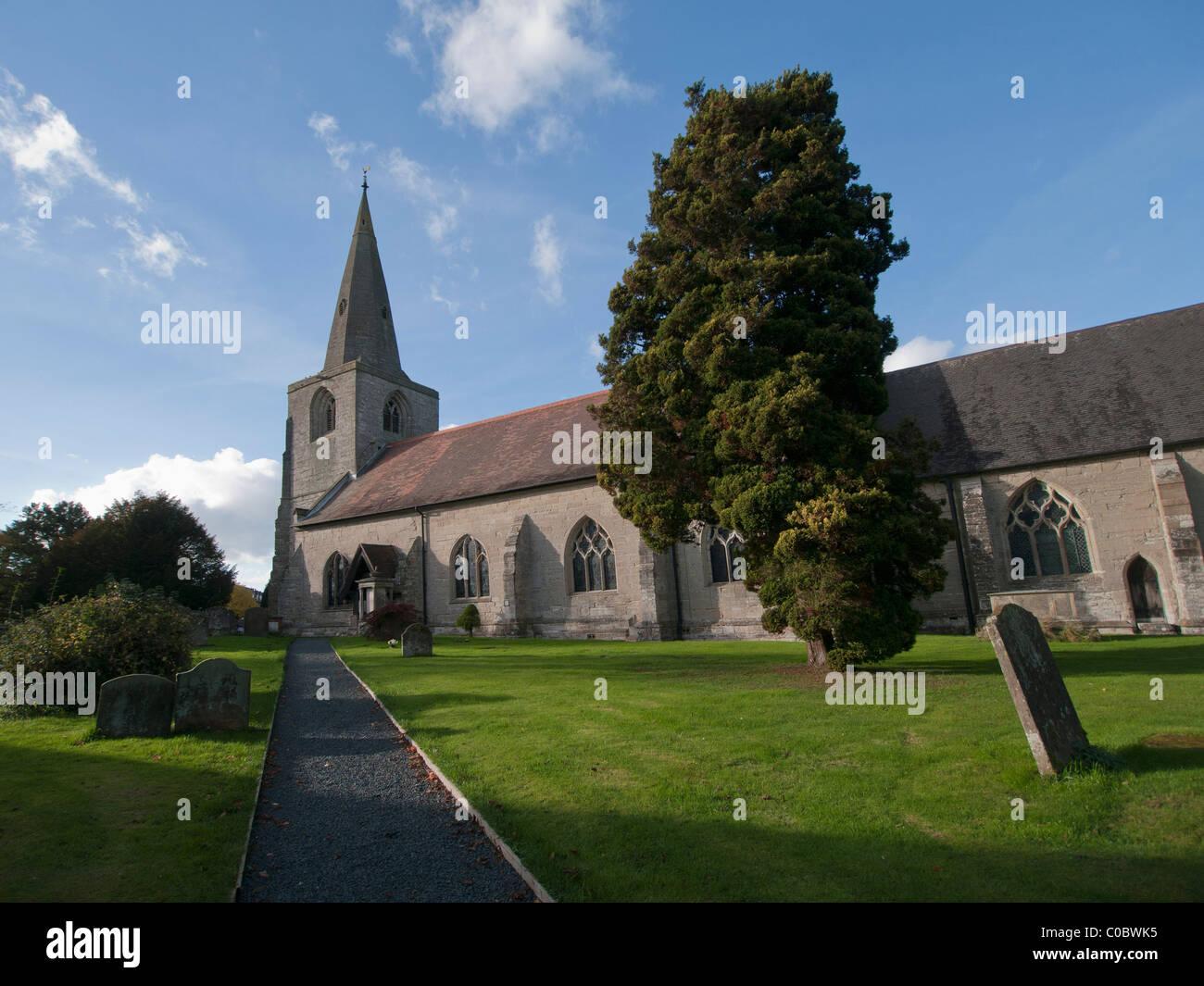 tanworth in arden church warwickshire midlands uk - Stock Image