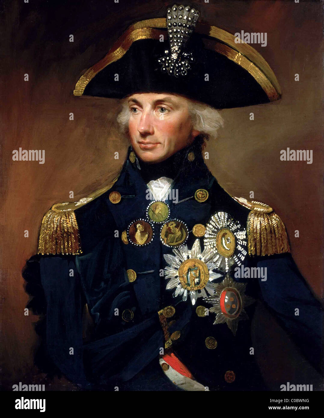 Nelson, Horatio Nelson, Rear-Admiral Sir Horatio Nelson, 1758–1805. - Stock Image